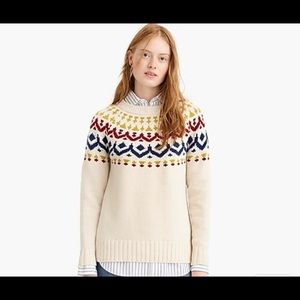 EUC J Crew Fair Isle Sweater.  Size S